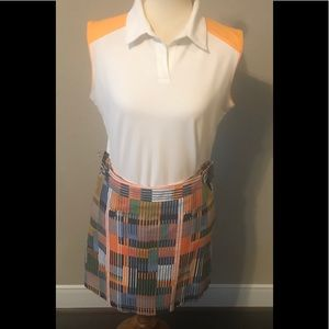 Golf outfit shirt and skirt